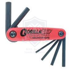 BONDHUS WRENCH ALLEN SET GORILLA METRIC 1.5-6 MM