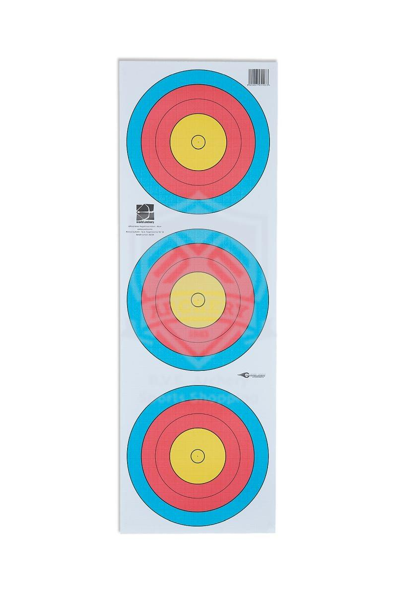 AVALON TARGET FACE 3-SPOT CP 40 CM 5 RING